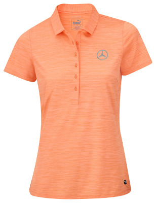 Женская рубашка-поло Mercedes Women's Golf Polo Shirt, Orange
